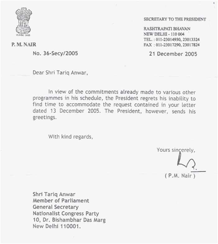Letters newspapers copy of letter from secretary to the president rashtrapati bhawan can be seen below img his excellency stopboris Gallery